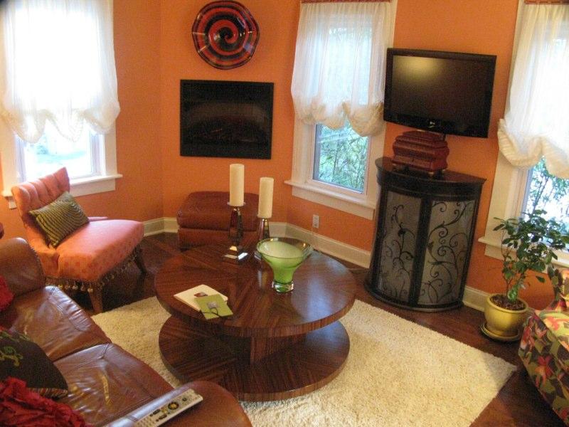 living room remodel orange walls